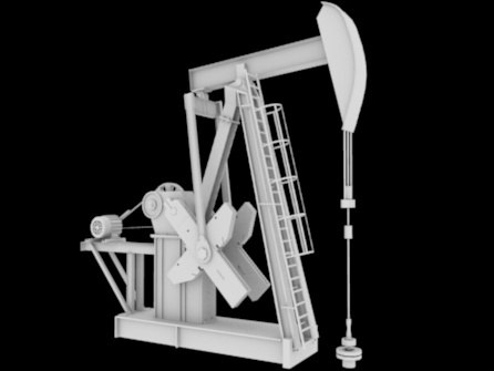 oil pumpjack pump jack 3d 3ds