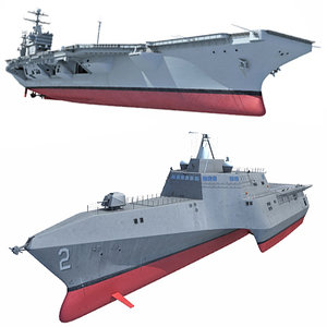 3d model navy combat ship warships