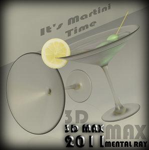 martini glass 3d max