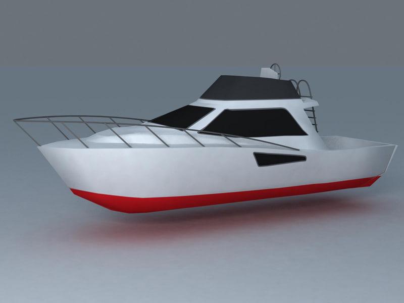 ready motor boat 3d model