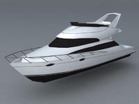yacht 3d model