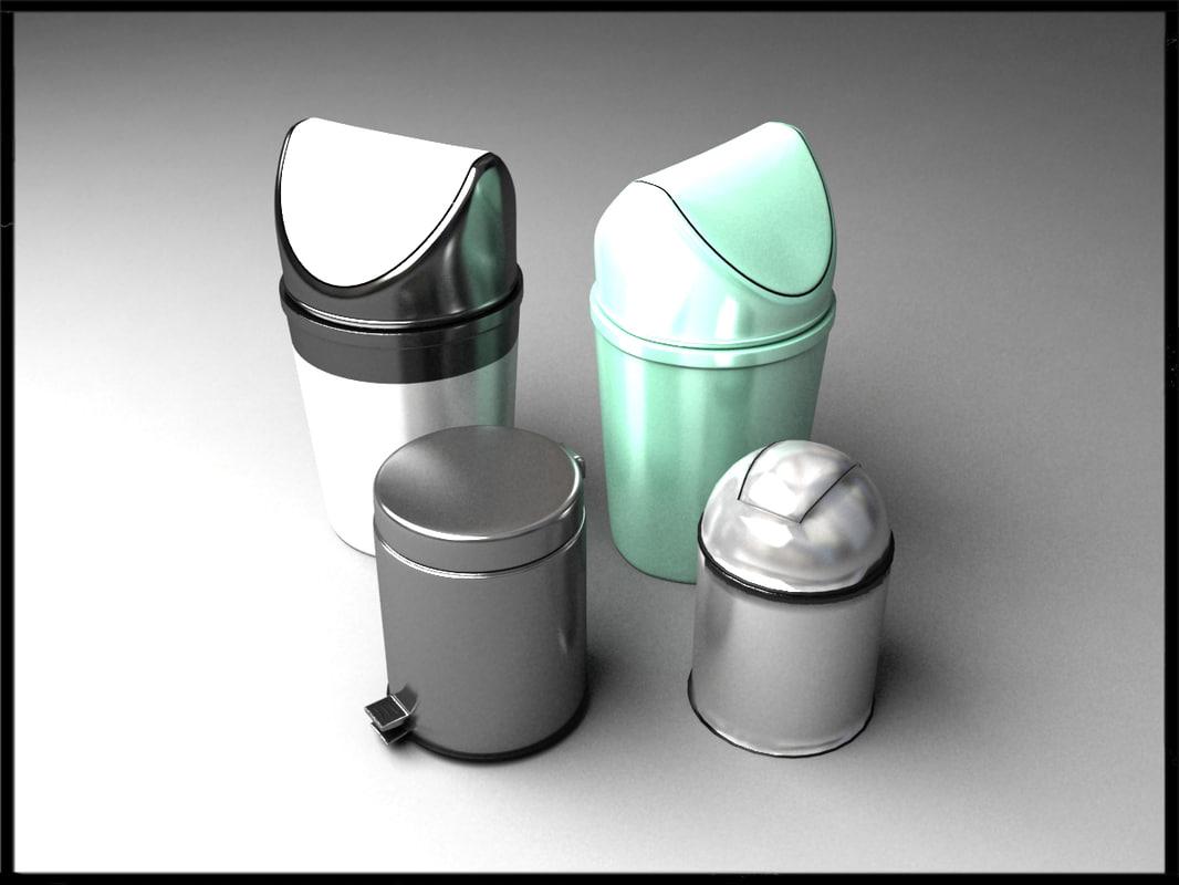 free - bins 3d model
