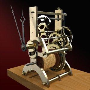 nathaniel dominy iv clock 3d model