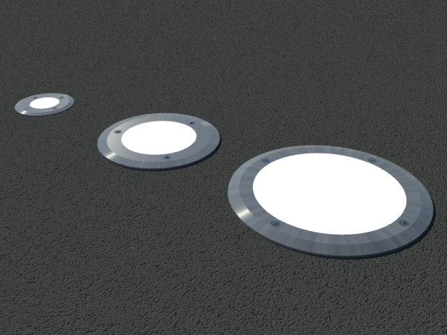 Floor recessed lights & free 3ds mode recessed floor light