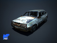 lada wreak 3d model