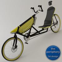3d model recumbent bike