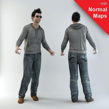 3d max human characters 3
