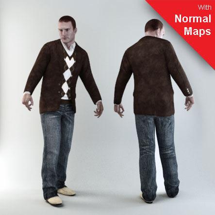 axyz 3 human 3d model