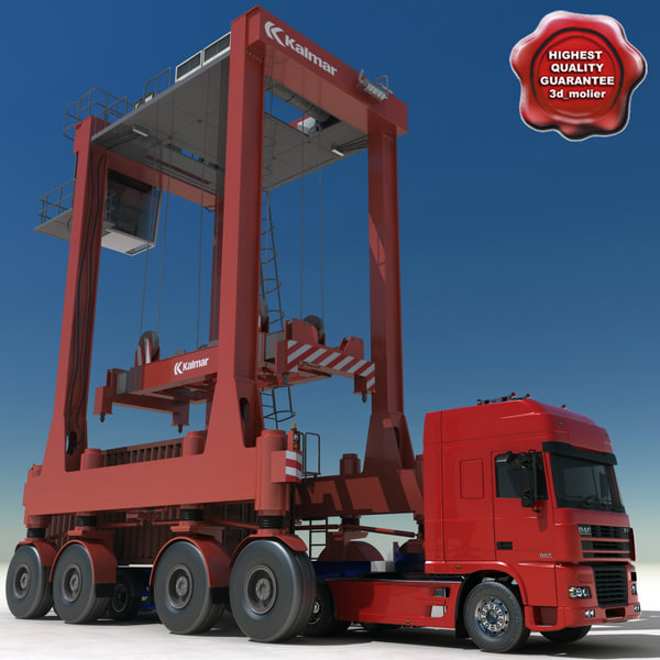 container truck straddle carrier 3d model