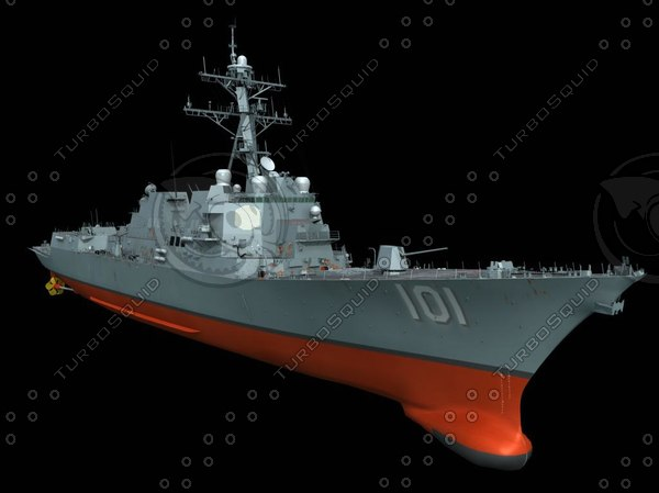 3d model ddg destroyer