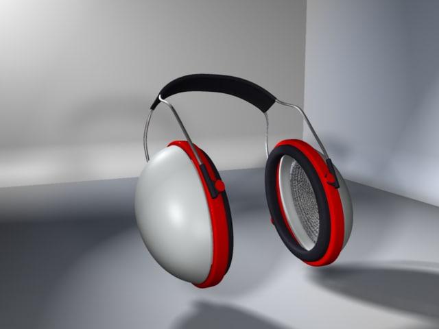 3d casque anti-bruit