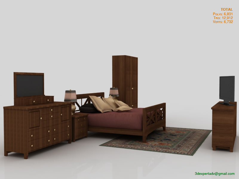 bedroom interior 3d model