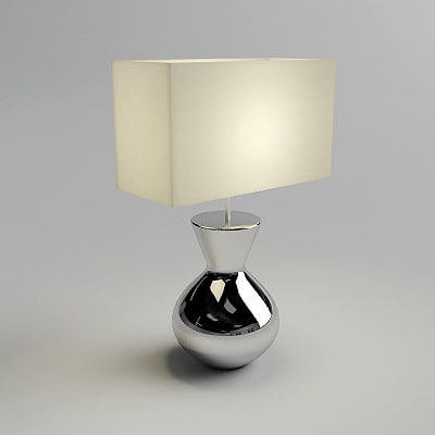 3d table lamp - materials model
