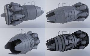 jet engine mkiiib 3d model