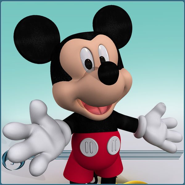 character cartoon mickey 3d model