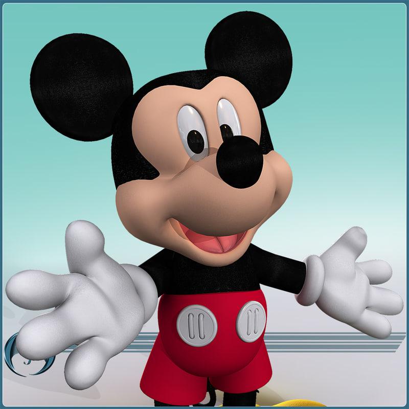 character cartoon mickey 3d model
