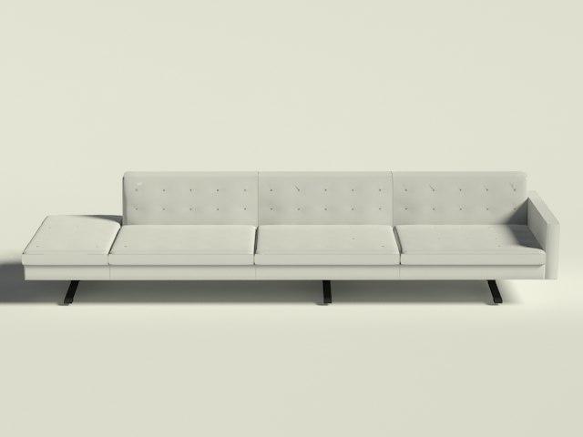 Poltrona Frau Kennedee Sofa 3 Seater