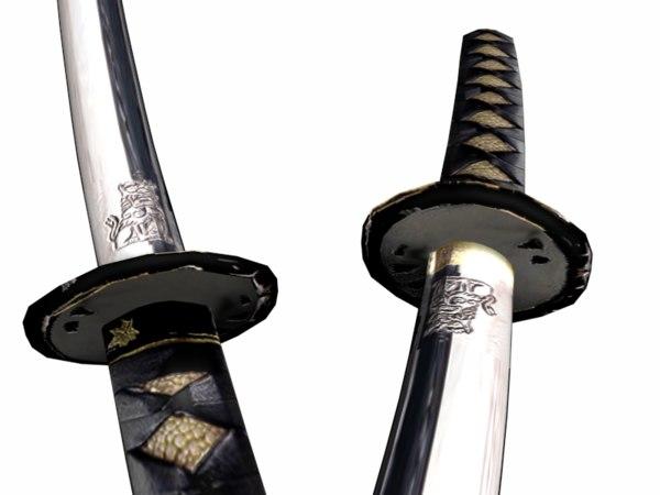 japanese katana 3d model