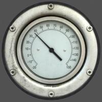 3d model meter gauge