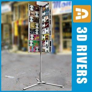 cd display rack stores 3d model