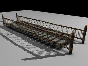 ropebridge suspensionbridge bridge 3d model