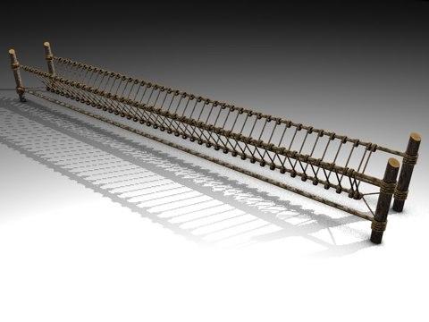 rope ropebridge bridge 3d model