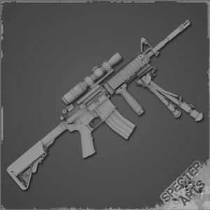 3d m4a1 rifle dmr model