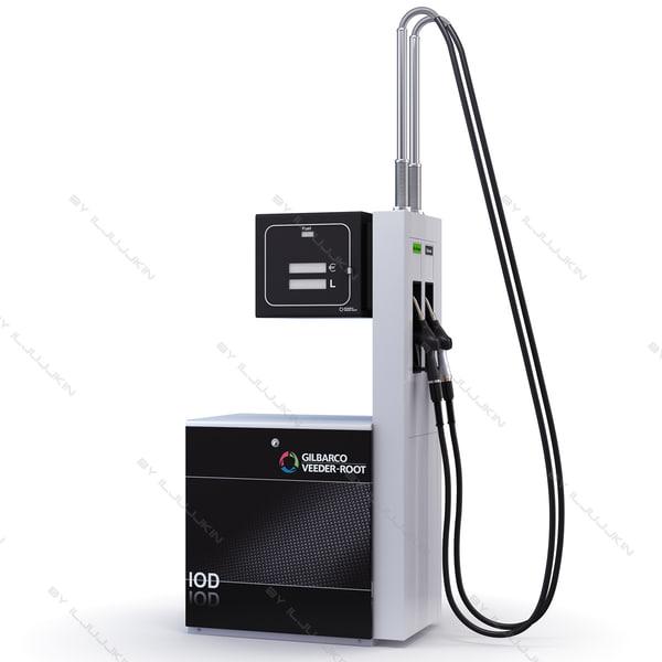 gas pumping unit gilbarco 3d model