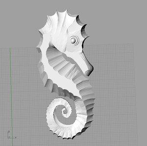 3d seahorse