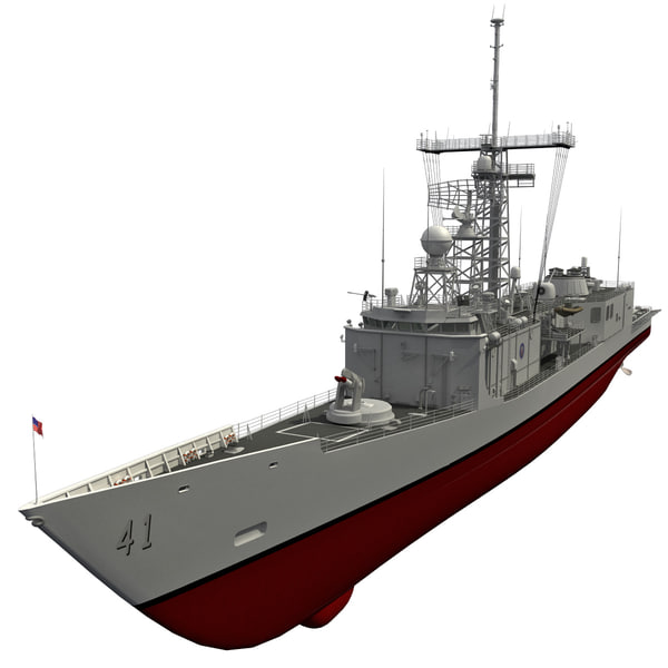 uss oliver hazard perry 3d model