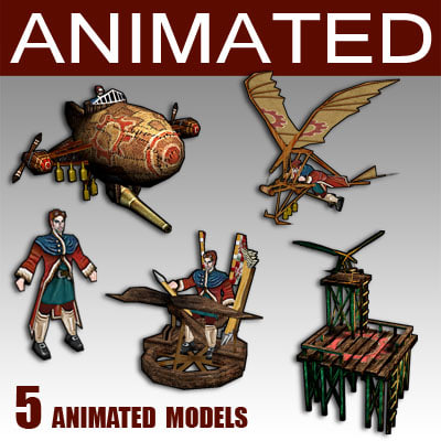 3d medieval fantasy air model