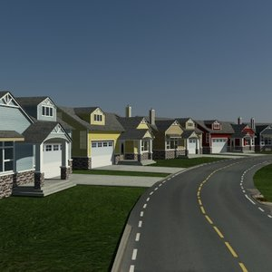 houses 3d max