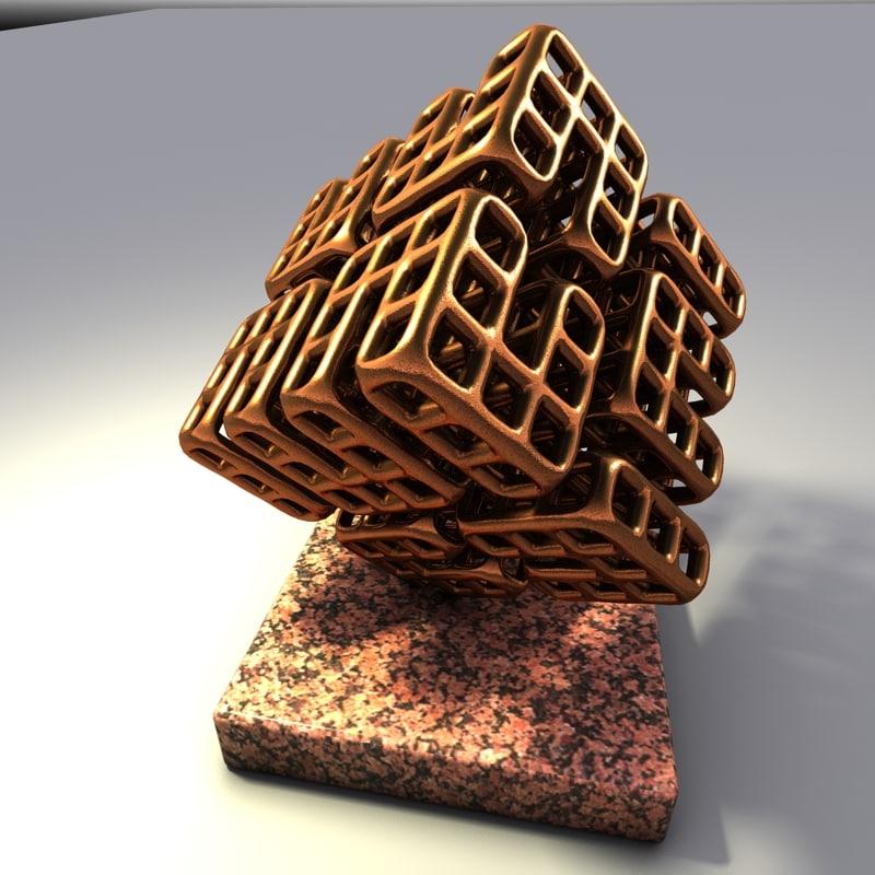 bronze sculpture 3d max
