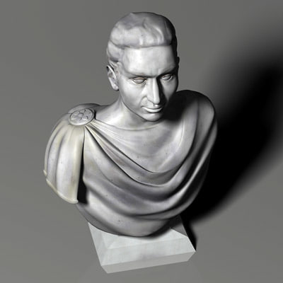3ds roman bust