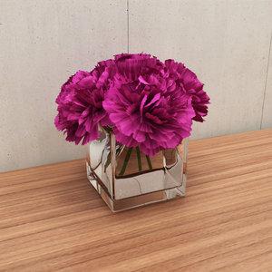 flower carnations 3d model