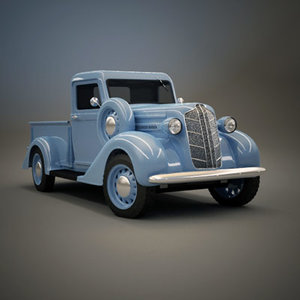 1936 dodge pickup truck 3d model