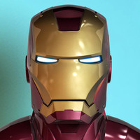 ironman helmet 3d model