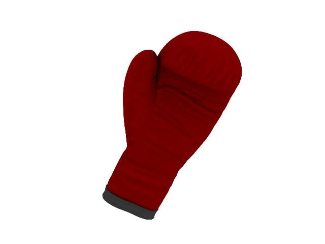 boxing glove 3d obj