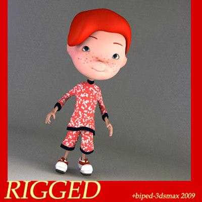 human kid boy 3d model