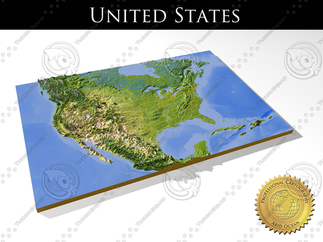 3dsmax relief united states