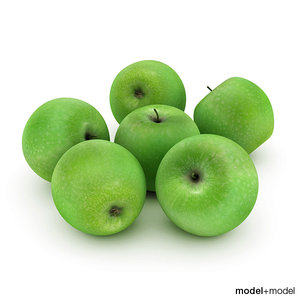 free green apples 3d model