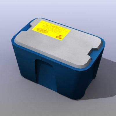 maya radiation container