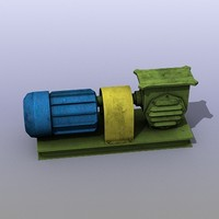low-poly old electric motor 3d 3ds