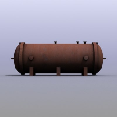 3d low-poly emergency water tank