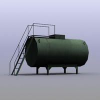 3d low-poly fuel cistern