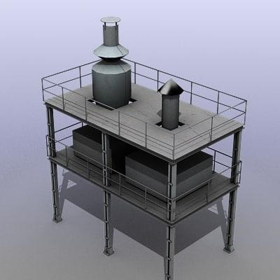 factory tank 3d model