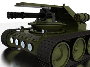 robot gatling gun 3d model