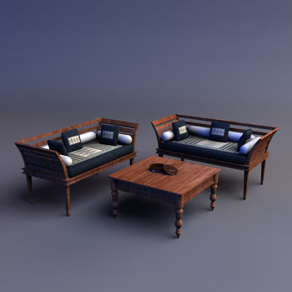 3ds max sofa table