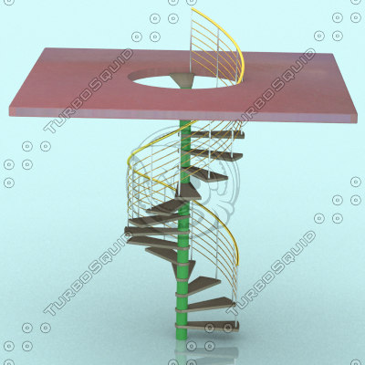 3ds spiral stair staircase