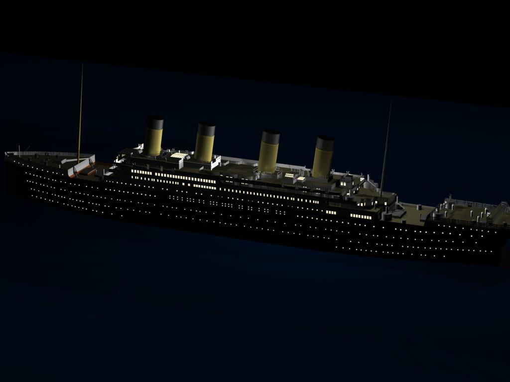 titanic 3d max